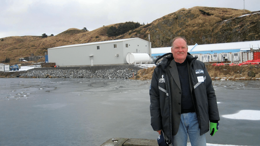 Jeff Bland in Dutch Harbor, Alaska